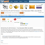 AVG Anti-Virus Pro 2015 Full Version - 1 Year Subscription FREE
