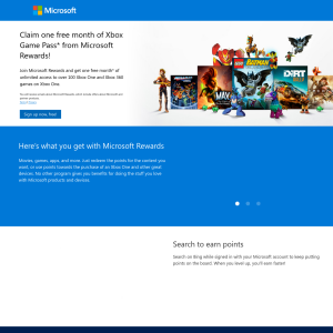 Free 1 Month Xbox Game Pass