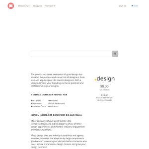Free 1st Year .design Domain