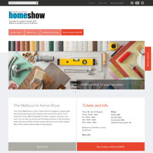 Free 2x Tickets Melbourne Home Show