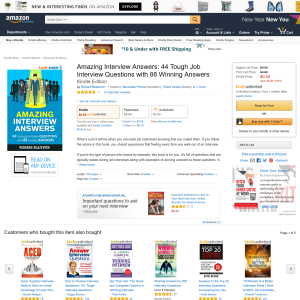 Free Amazing Interview Answers: 44 Tough Job Interview Questions with 88 Winning Answers Kindle Edition