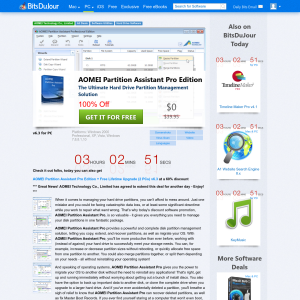 Free AOMEI Partition Assistant 6.3 Pro Edition