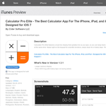 Free App: Calculator Pro Elite - The Best Calculator App For The iPhone, iPad, and iPod - Designed for iOS 7