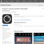 Free App: ProCam 2 - Camera and Photo / Video Editor [iOS]