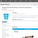 Free App: Runtastic Six Pack Abs Workout, Trainer & Core Exercises