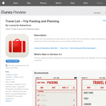 Free App: Travel List - Trip Packing and Planning
