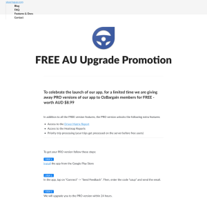 Free App Upgrade to PRO Version