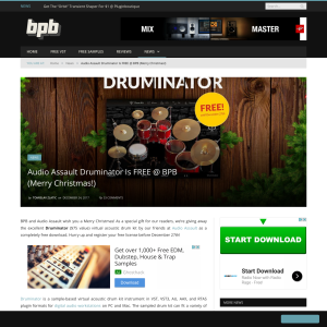 Free Audio Assault Druminator Drum Plugin