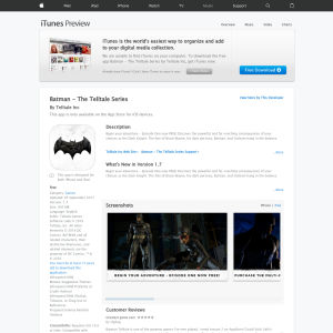 Free Batman - The Telltale Series