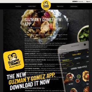 Free Burrito with Guzman Y Gomez App
