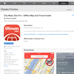 Free City Maps 2Go Pro - Offline Map and Travel Guide App [iOS]