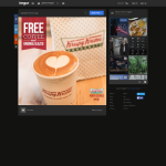 Free Coffee and Original Glazed Doughnut at Krispy Kreme