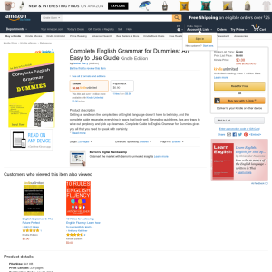 Free Complete English Grammar for Dummies: An Easy to Use Guide