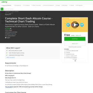 Free Complete Short Dash Altcoin Course - Technical Chart Trading