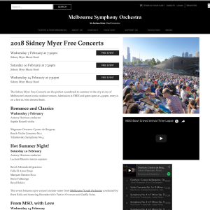 Free Concerts at Sidney Myer Music Bowl