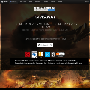 Free copy of World in Conflict on PC