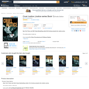 Free Cruel Justice (Justice series Book 1) Kindle Edition