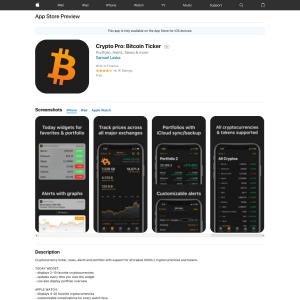 Free Crypto Pro: Bitcoin Ticker