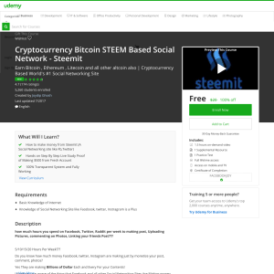 Free Cryptocurrency Bitcoin STEEM Based Social Network - Steemit