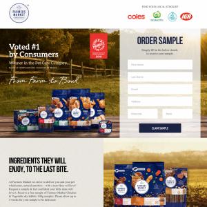 Free Dog Food: 100g Bag of Farmers Market Chicken & Vegetable Dry Kibble