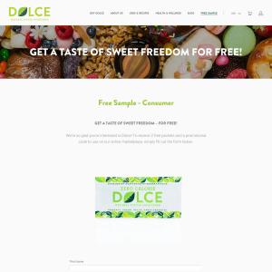 Free Dolce Natural Stevia Sweetener