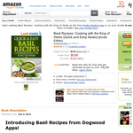 Free eBook: Basil Recipes: Cooking with the King of Herbs (Quick and Easy Series) [Kindle Edition]