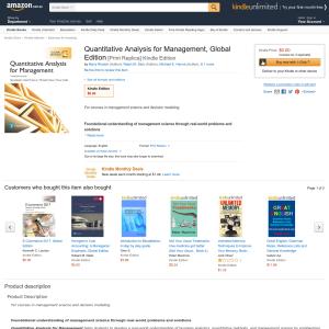 Free eBooks: Quantitative Analysis for Management and E-Commerce 2017