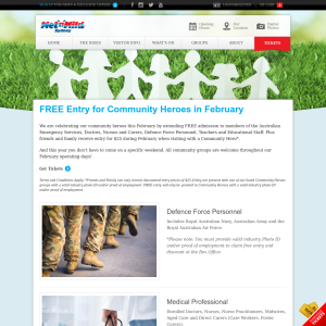 Free Entry for Community Heroes in February