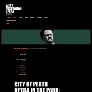 Free Event: City of Perth Opera in The Park