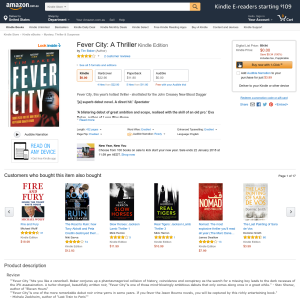 Free Fever City: A Thriller Kindle Edition