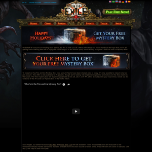 Free Fire and Ice Mystery Box for Path of Exile Game
