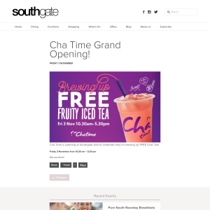 Free Fruity Iced Tea