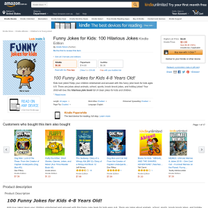Free Funny Jokes for Kids: 100 Hilarious Jokes Kindle Edition