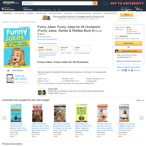 Free Funny Jokes: Funny Jokes for All Occasions (Funny Jokes, Stories & Riddles Book 8) Kindle Edition