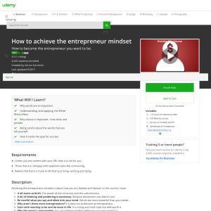 Free How to achieve the entrepreneur mindset
