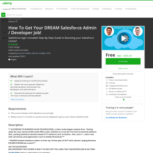 Free How To Get Your DREAM Salesforce Admin / Developer Job!