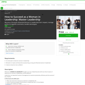 Free How to Succeed as a Woman in Leadership: Master Leadership