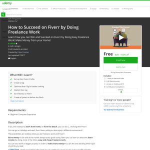 Free How to Succeed on Fiverr by Doing Freelance Work