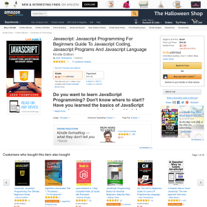Free Javascript: Javascript Programming For Beginners Guide To Javascript Coding, Javascript Programs And Javascript Language