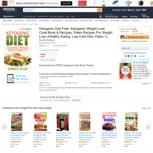 Free Ketogenic Diet Free: Ketogenic Weight Loss Cook Book & Recipes, Paleo Recipes For Weight Loss (Healthy Eating, Low Carb Diet, Paleo 1)