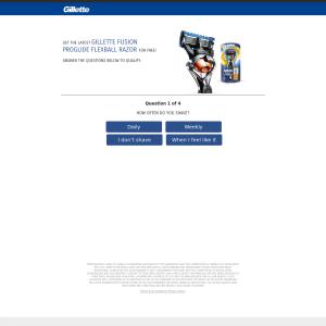 Free Latest Gillette Fusion Proglide Flexball Razor