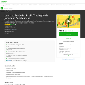 Free Learn to Trade for Profit:Trading with Japanese Candlesticks