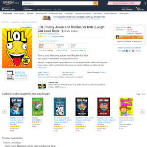 Free LOL: Funny Jokes and Riddles for Kids (Laugh Out Loud Book 1) Kindle Edition