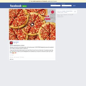 Free Margherita Pizzas