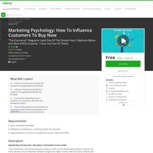 Free Marketing Psychology: How To Influence Customers To Buy Now