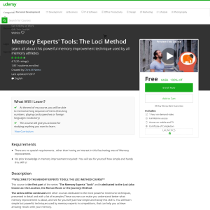Free Memory Experts' Tools: The Loci Method