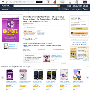 Free OneNote: OneNote User Guide - The Definitive Guide to Learn the Essentials of OneNote in No Time - 2nd Edition