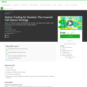 Free Option Trading for Rookies: The Covered Call Option Strategy
