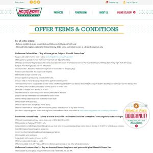 Free Original Glazed® Doughnut