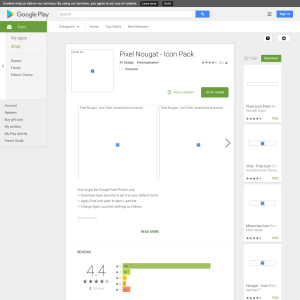 Free Pixel Nougat - Icon Pack